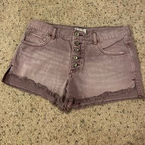 Free People Light Purple Shorts